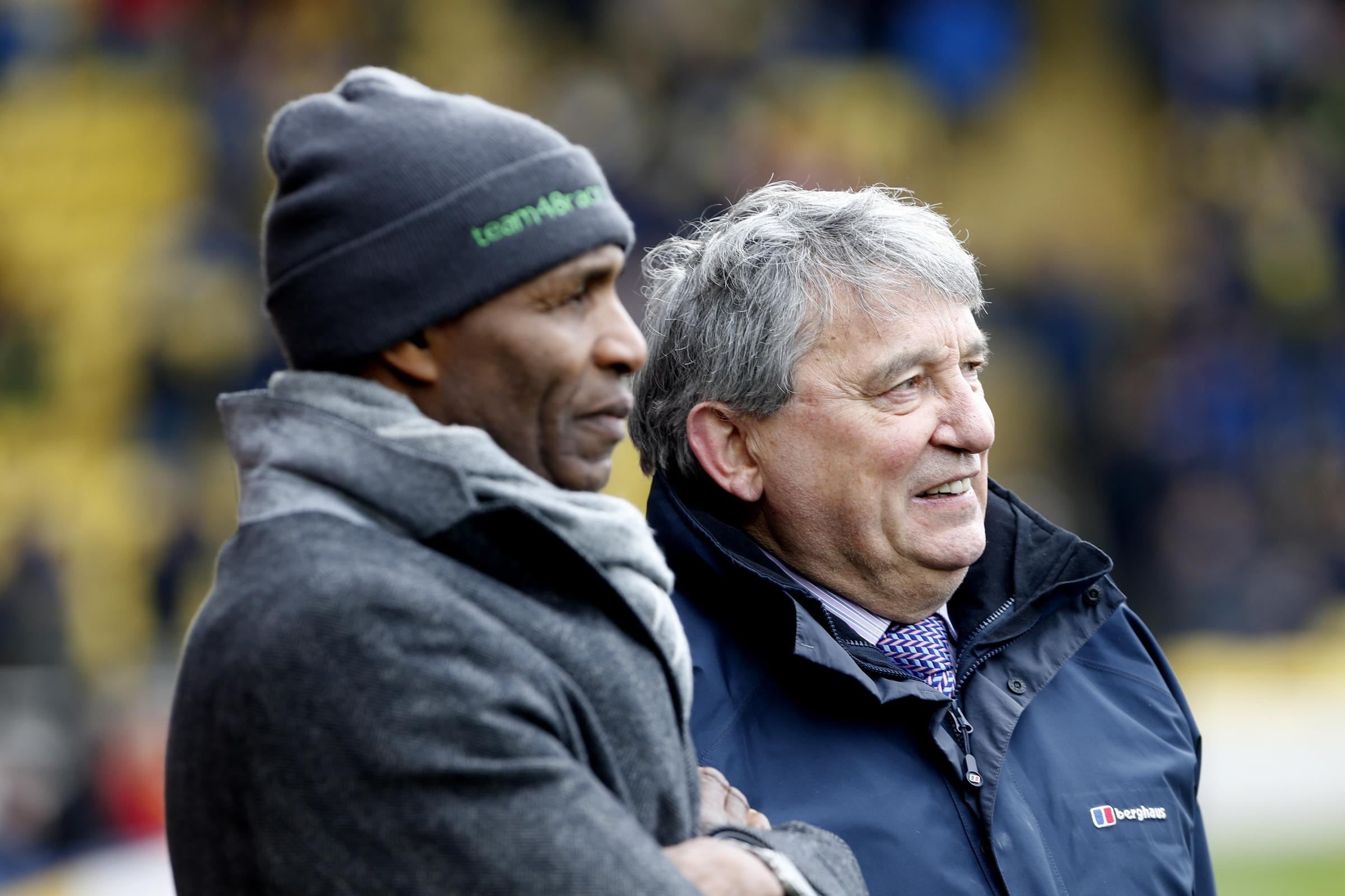 Luther Blissett and Graham Taylor. Picture: Holly Cant