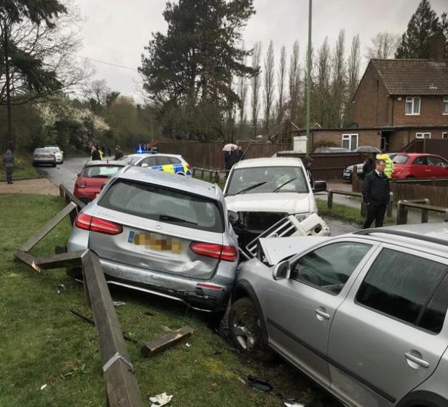 Police called to six-vehicle crash
