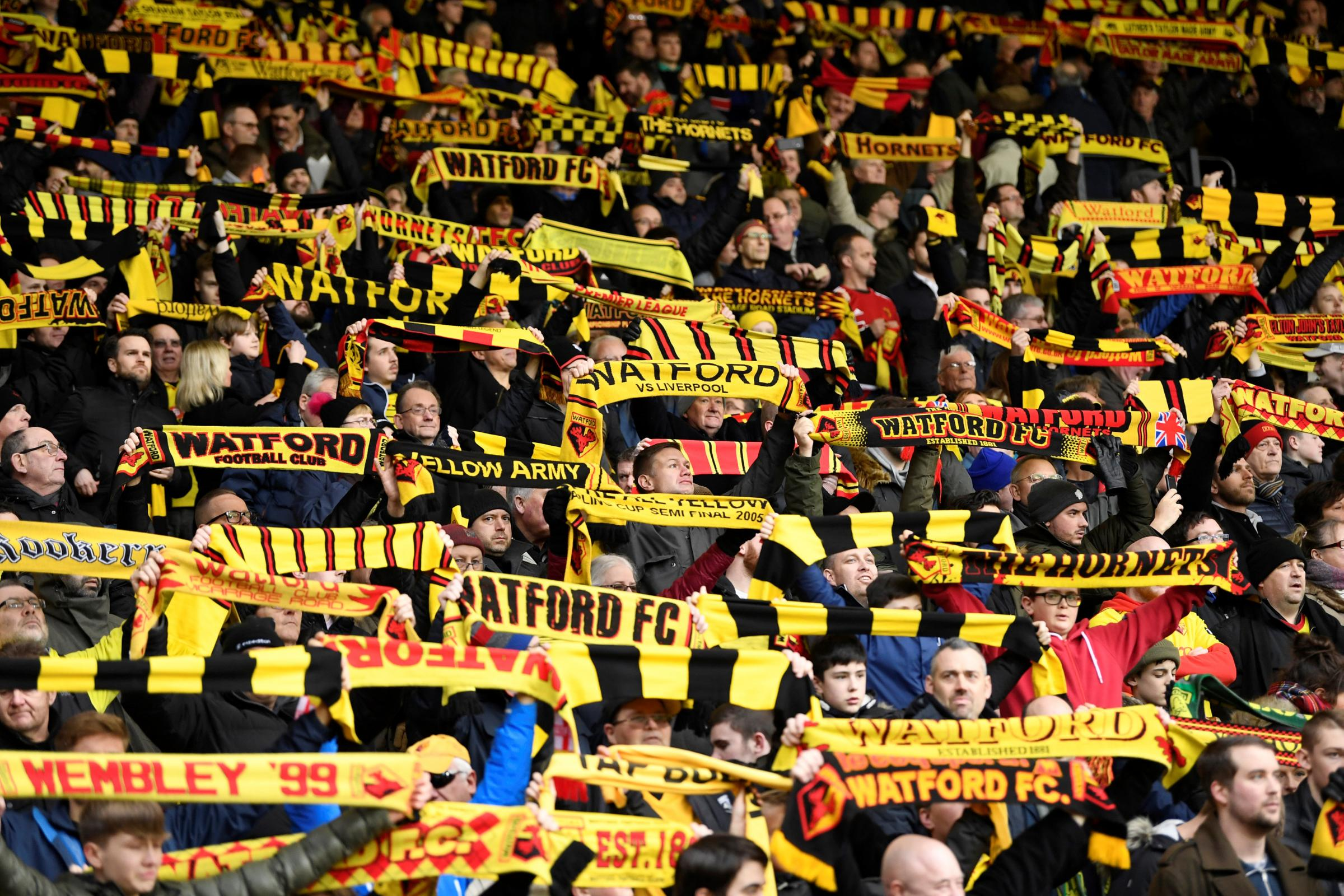 Watford fans could be watching their side in the Europa League next season. Picture: Action Images