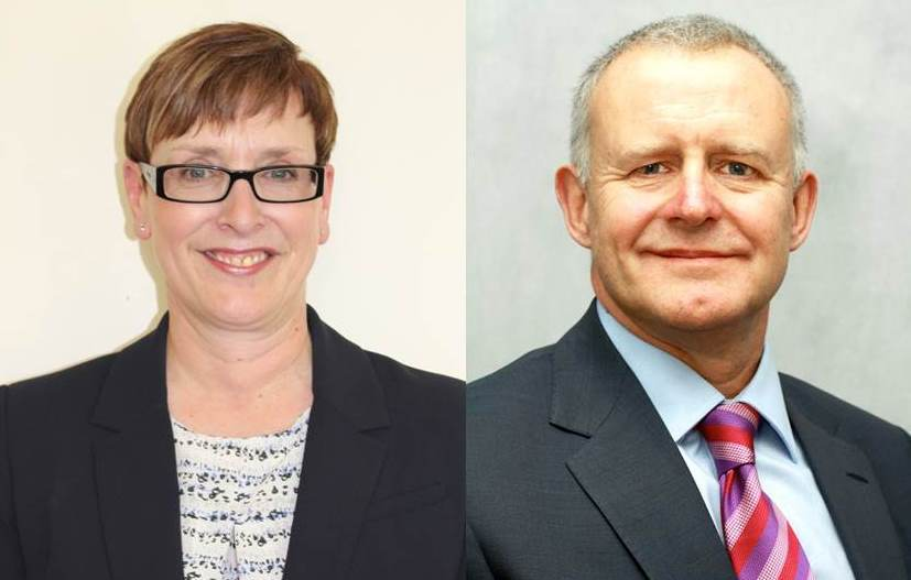 Ernie Mackenzie has pointed out the quick turnaround of chief executives at West Hertfordshire Hospitals NHS Trust. Pictured: Christine Allen and Phil Townsend