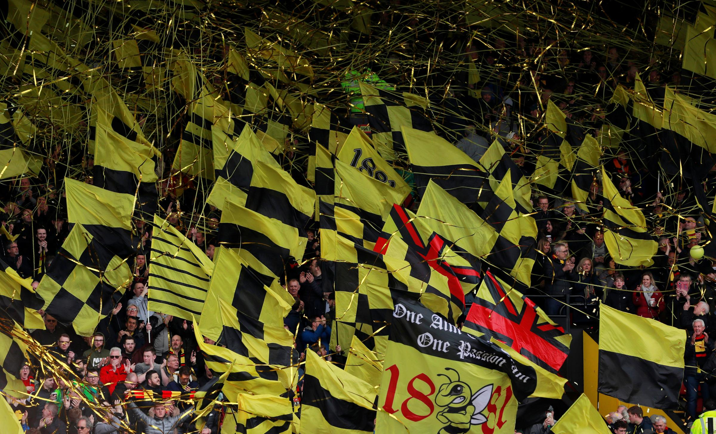 Thousands of Watford fans are making the journey to Wembley tomorrow. Picture: Action Images