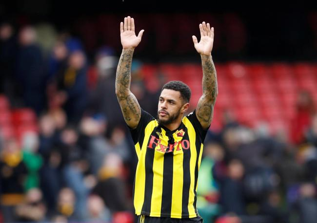 Andre Gray after scoring the winner in the FA Cup quarter-final. Picture: Action Images