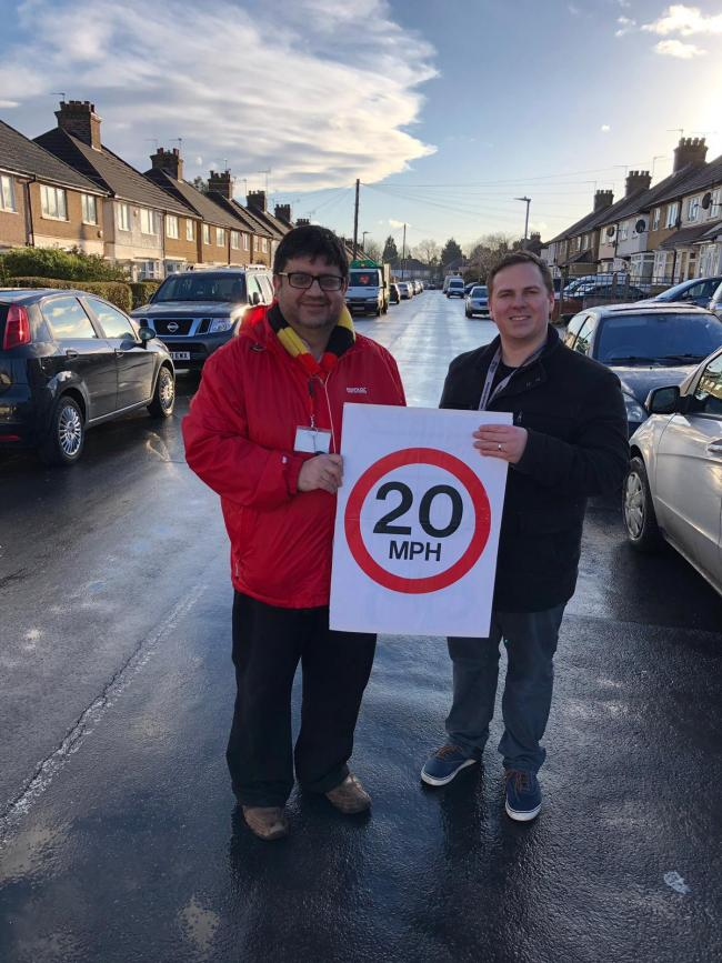 Cllrs Asif Khan and Richard Smith pictured as their campaign receives the thumbs up from the authorities