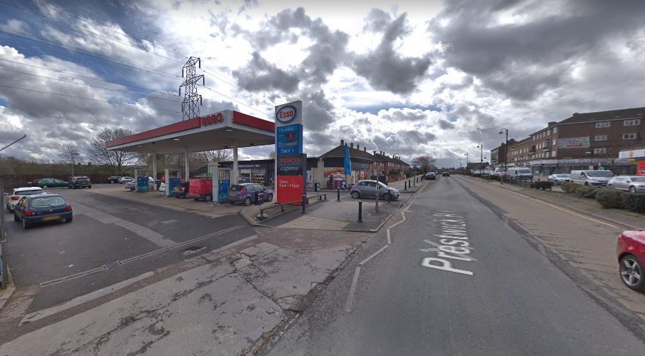 The incident took place at this petrol station