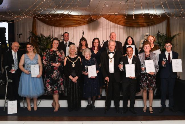 Winners from the Civic Awards held in Hertsmere in 2019. Photo: Blake Ezra