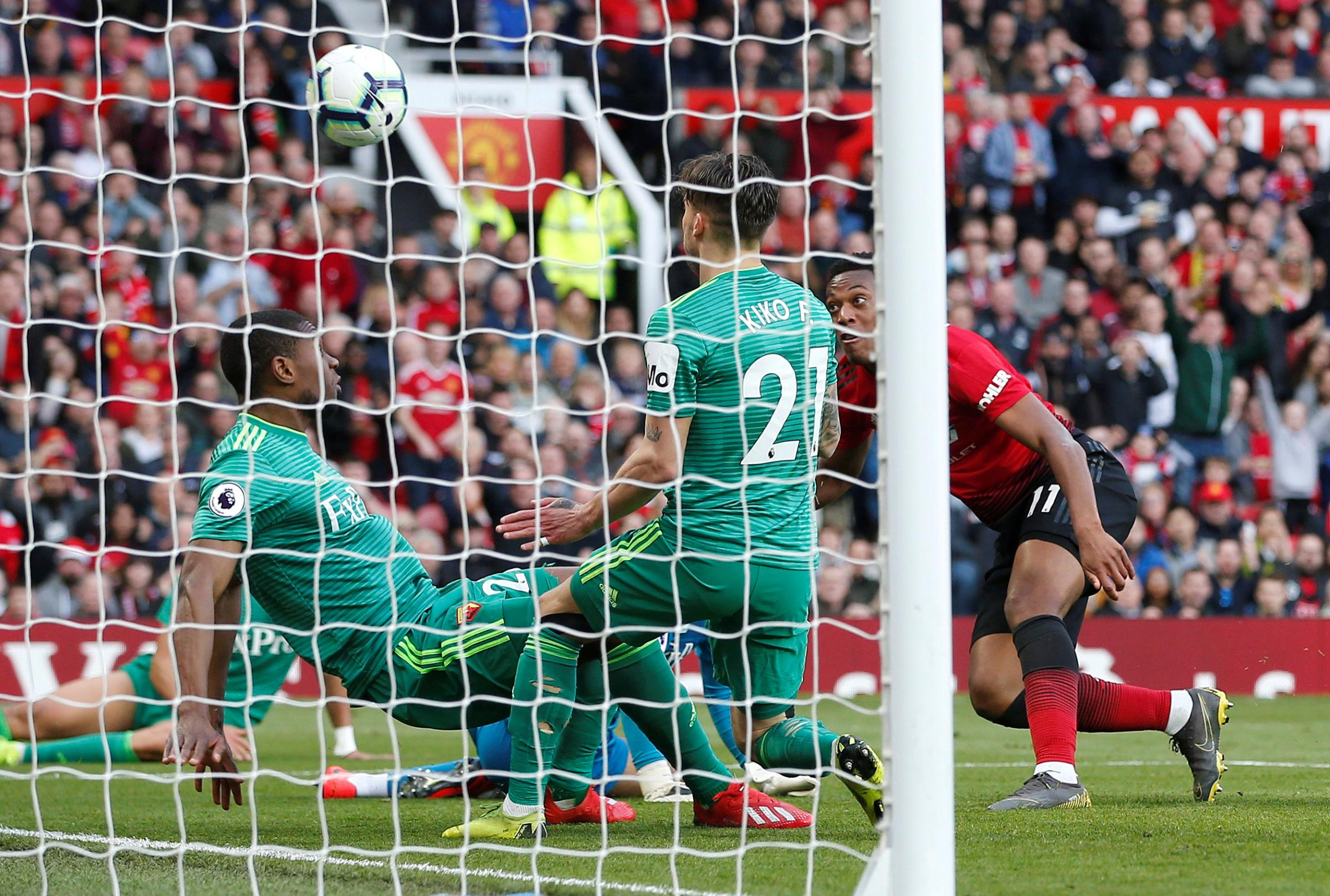 Watford were defeated at Old Trafford. Picture: Action Images