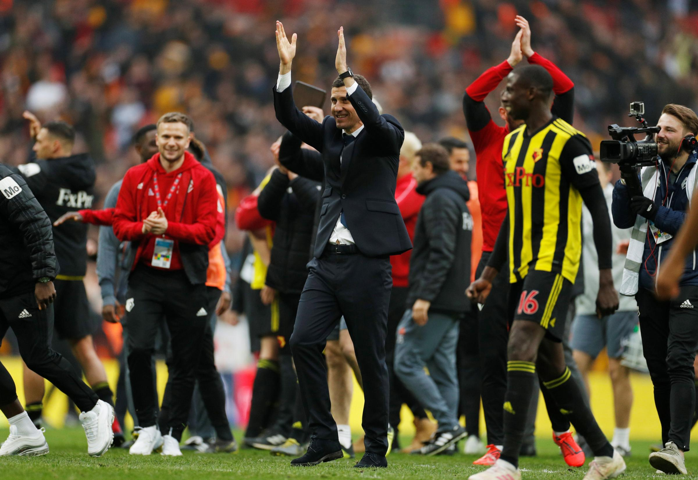 Javi Gracia said he will never forget the atmosphere in the semi-final. Picture: Action Images