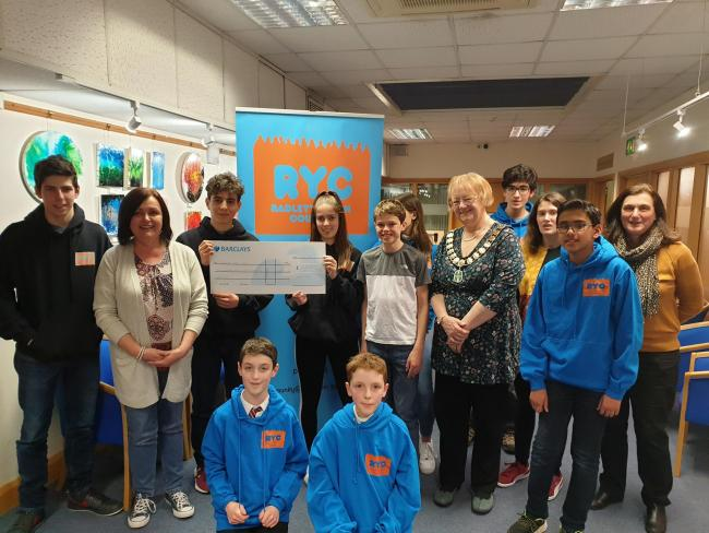 Members of Radlett Youth Council have raised nearly £400