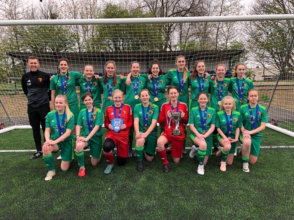 Watford FC Girls U16s won both the league and the Herts Cup