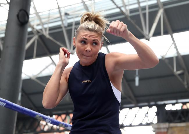 Shannon Courtenay preparing for her second professional fight. Picture: Action Images