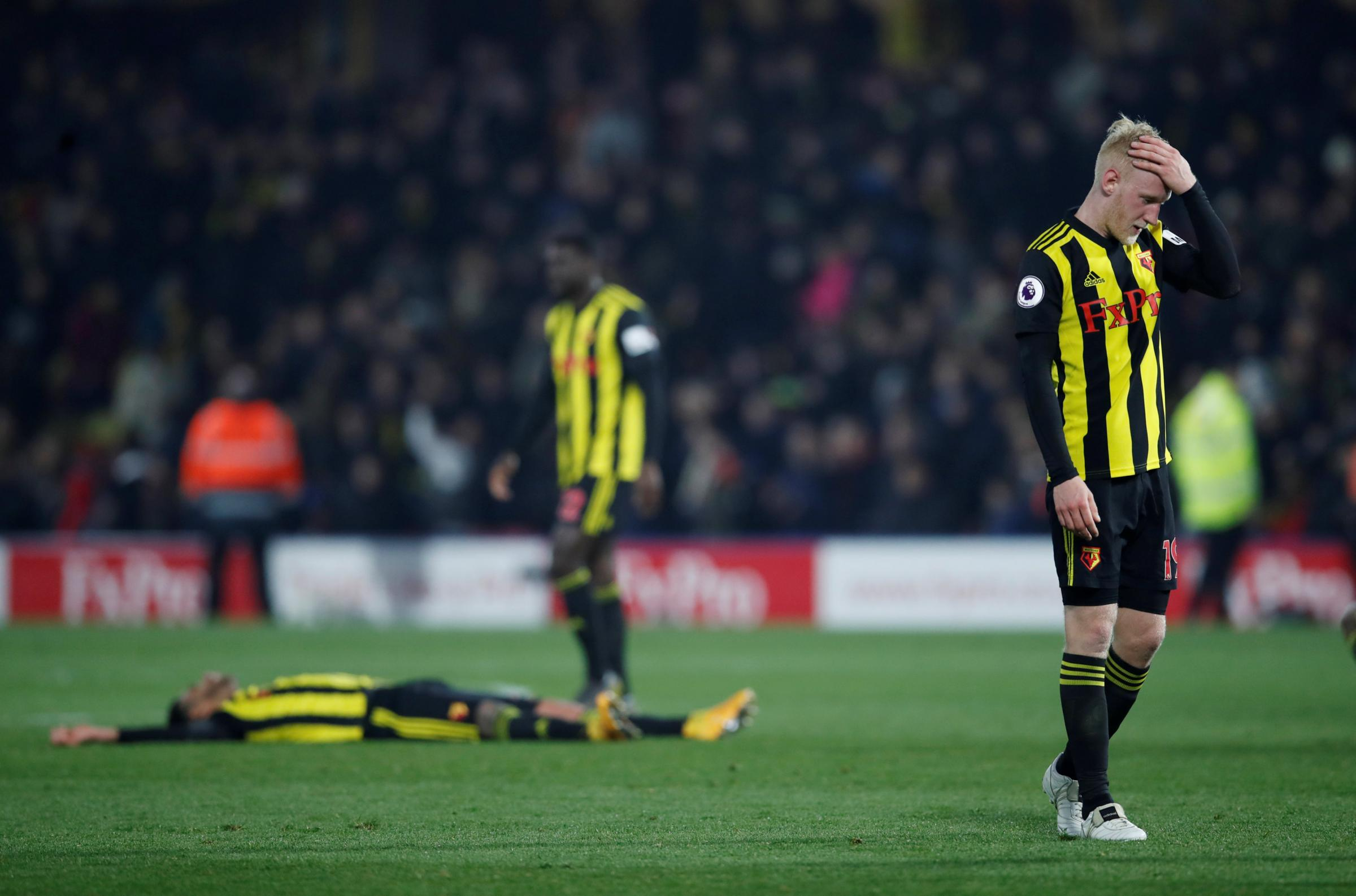 Watford were made to work after playing against Arsenal with ten men. Picture: Action Images
