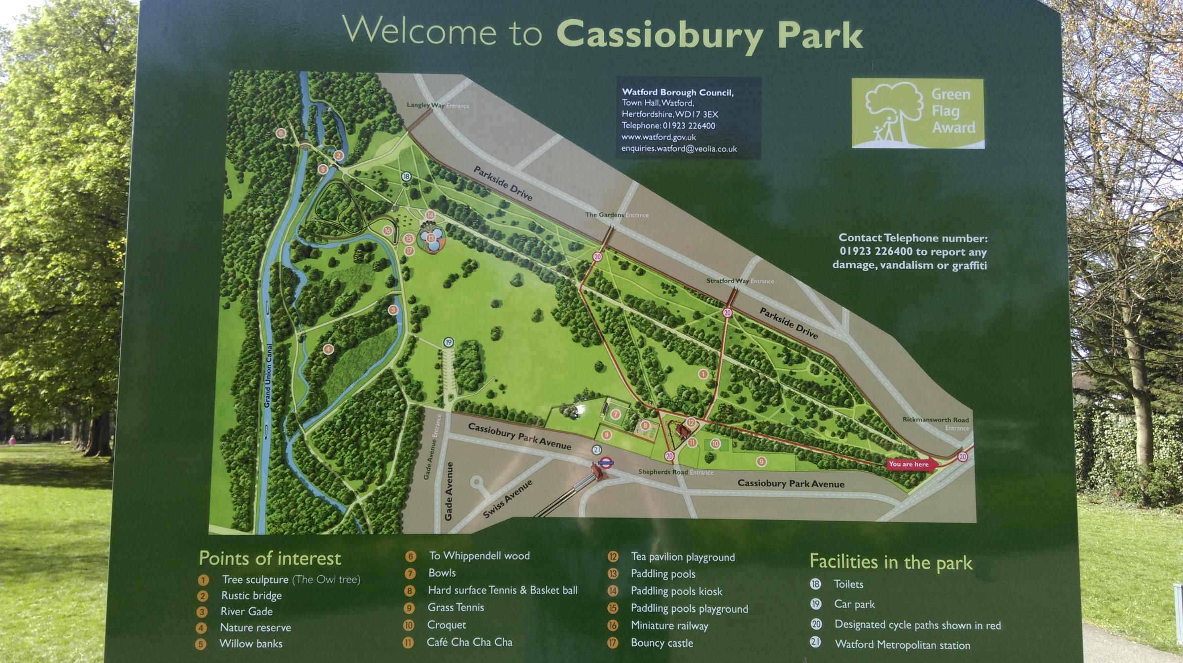 Main car park still closed at Cassiobury Park | Watford Observer