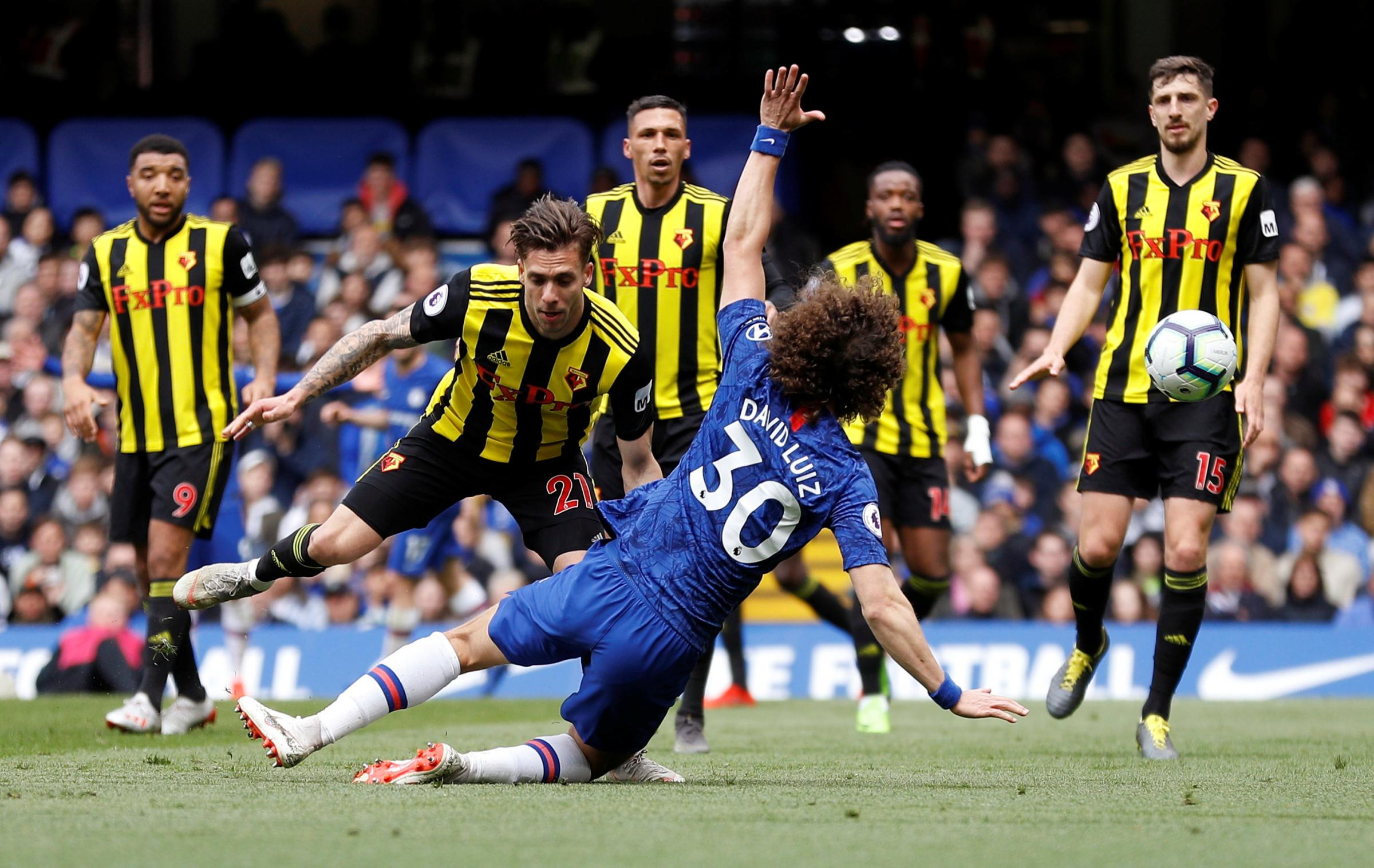 Watford struggled in the second half against Chelsea. Picture: Action Images