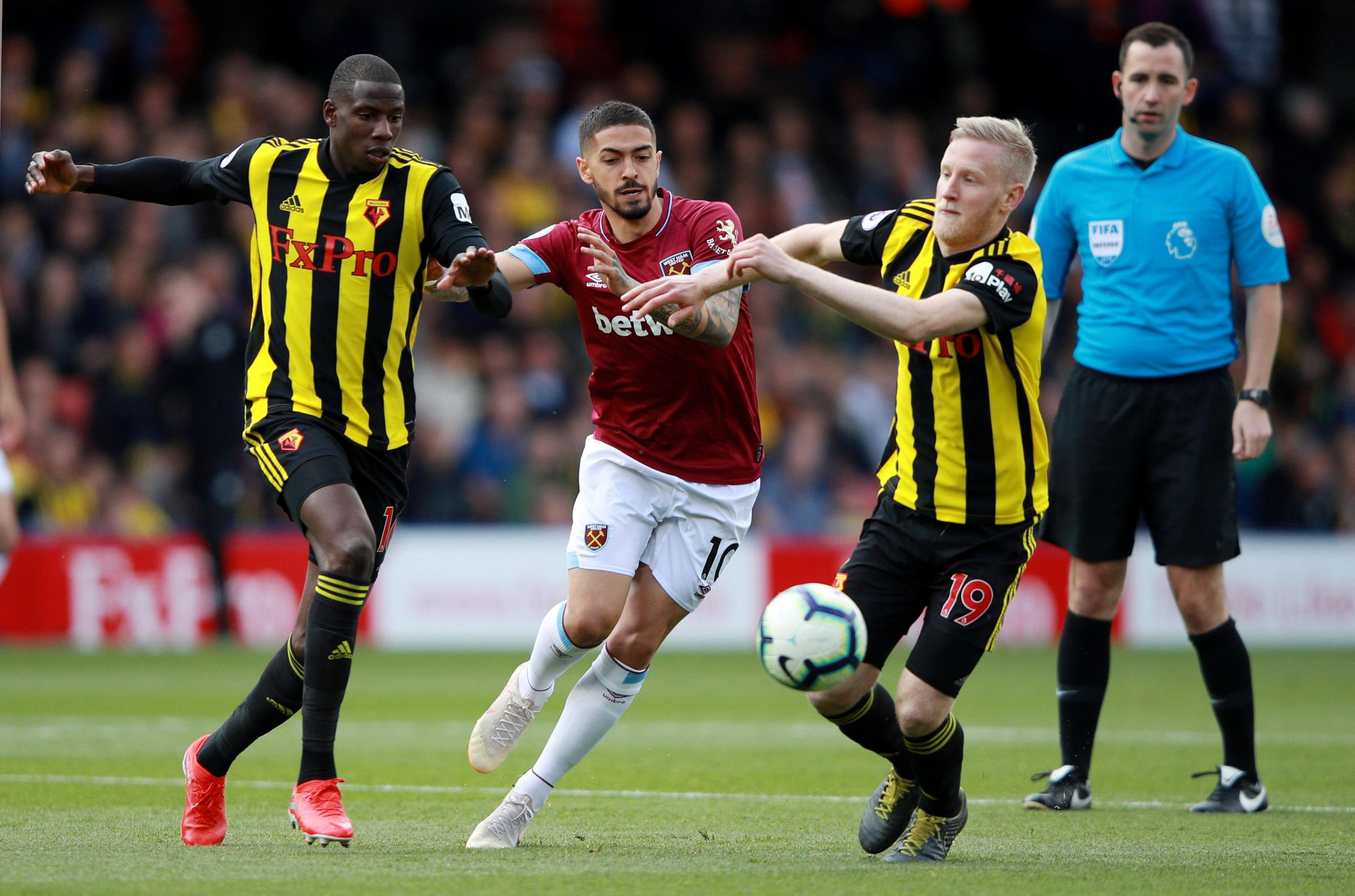 Watford were well beaten at home by West Ham. Picture: Action Images