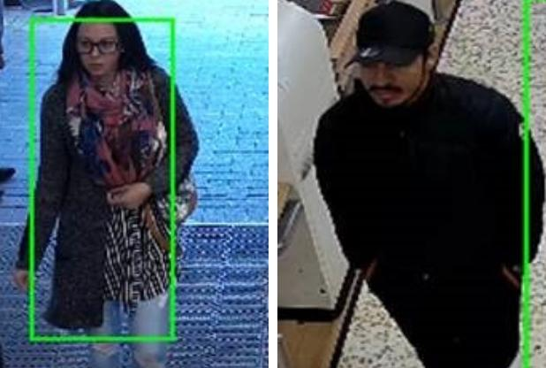 Do you recognise these two people who police believe can help with their enquiries? Photo: Herts Police