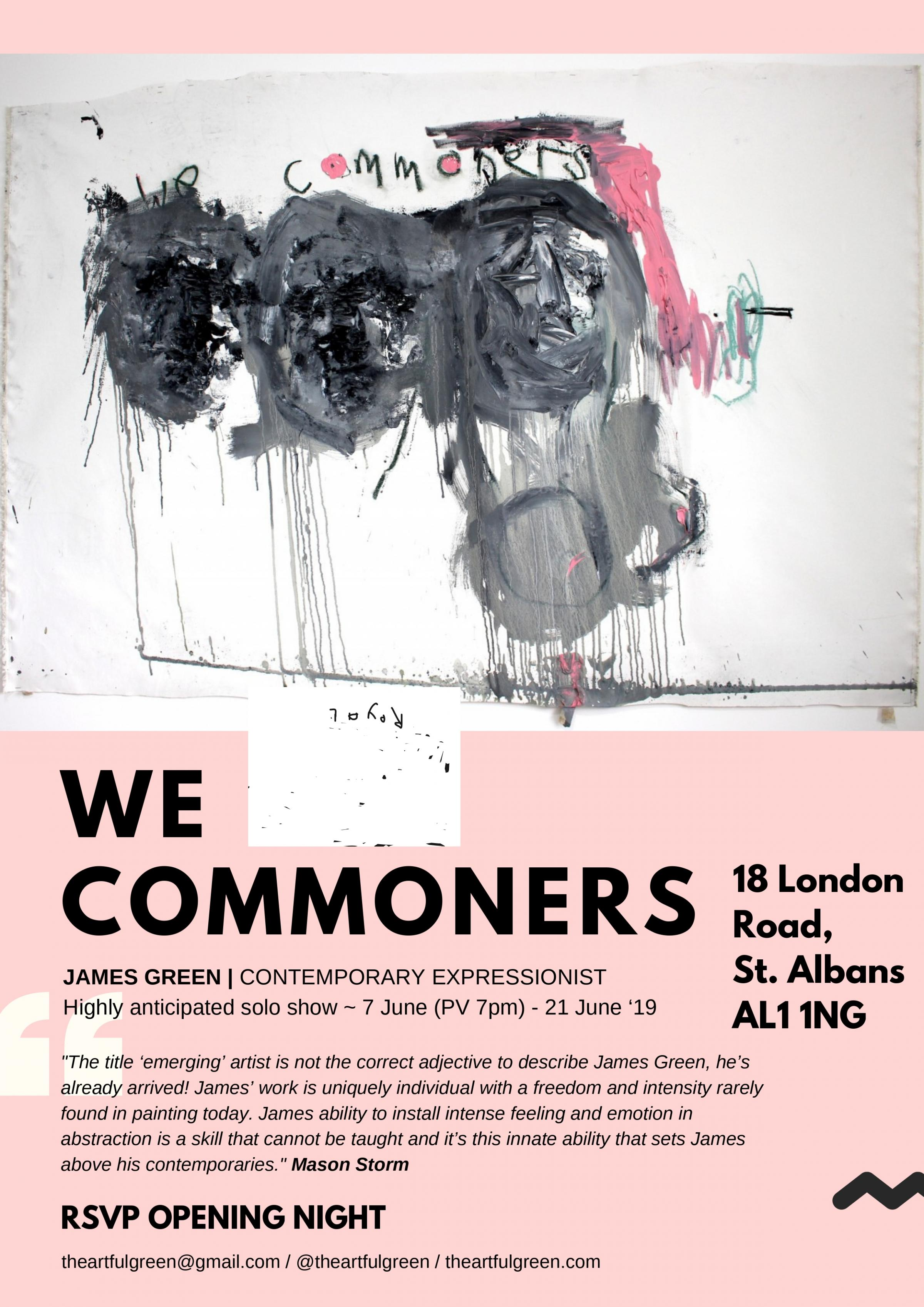 'WE COMMONERS' - Highly anticipated UK solo show from contemporary artist James Green