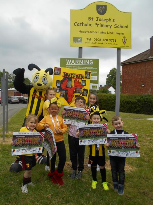 Poster winners with Harry the Hornet