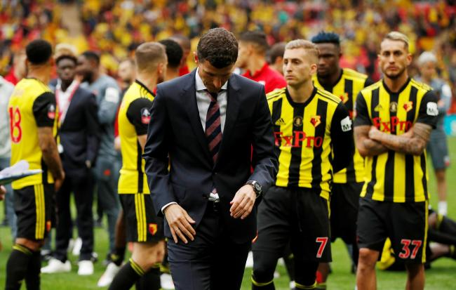 Javi Gracia at the end of a very difficult afternoon. Picture: Action Images