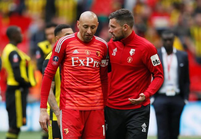 Ben Foster consoles Heurelho Gomes after the FA Cup final. Picture: Action Images