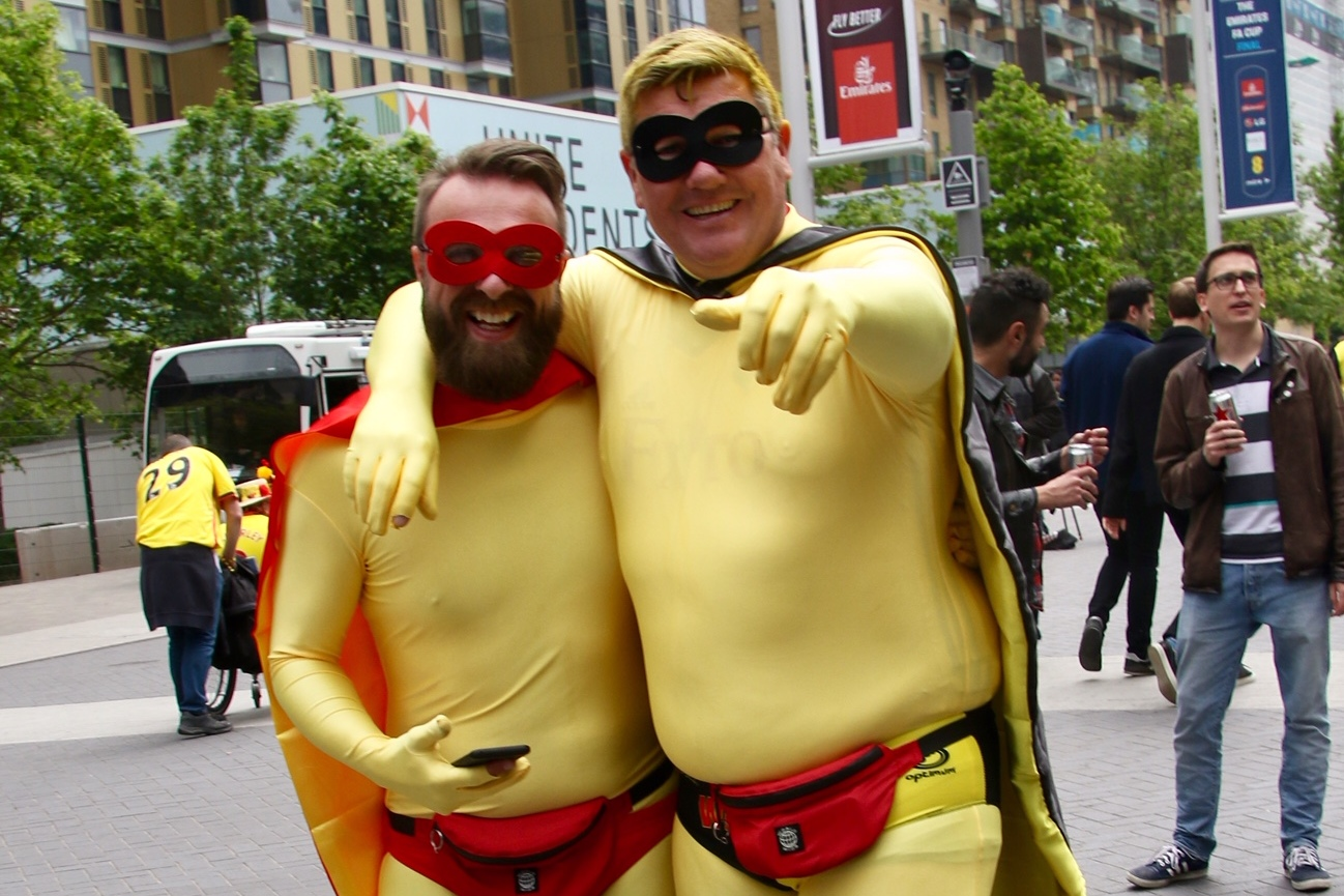 IN PICTURES: Hornets fans arrive at Wembley