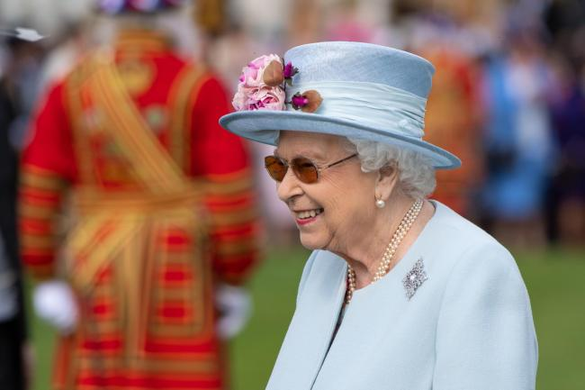 The Queen attending the garden party