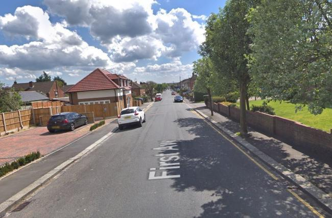 A woman was walking her dog in First Avenue, Garston, when they were attacked by two bull terriers. Photo: Google