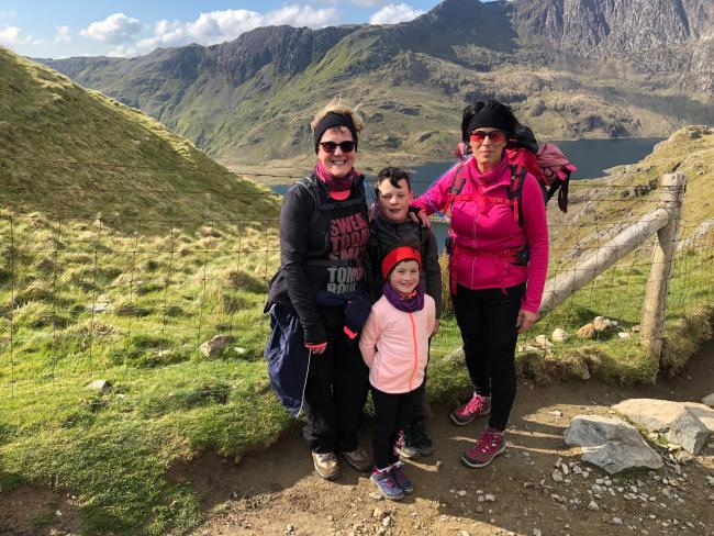 The Docherty family scaled Mount Snowdon for Peace Hospice Care