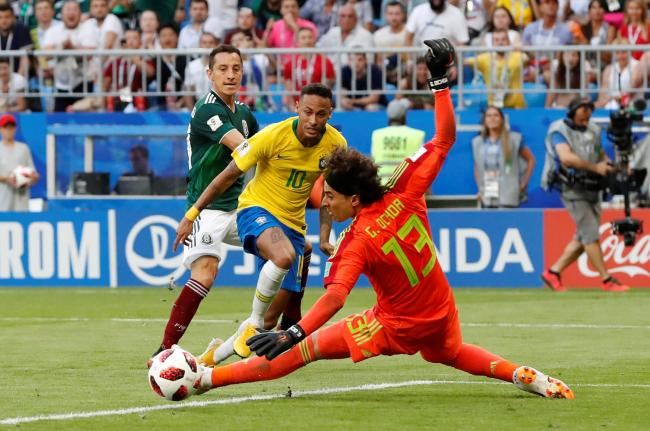 Guillermo Ochoa denies Neymar in last summer's World Cup. Picture: Action Images