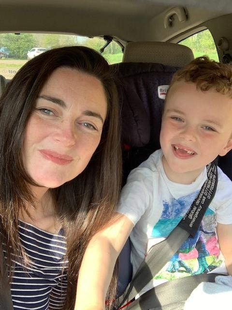 Nicky Williams, 44, pictured with her son Jenson, 6