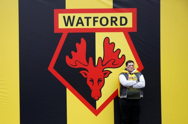 The Watford FC crest at Wembley. Picture: Action Images