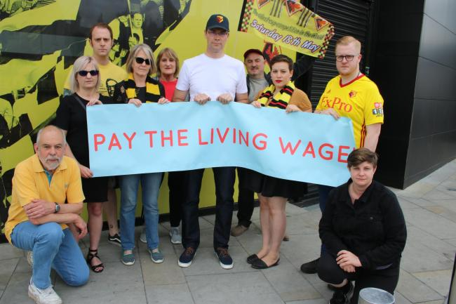 Watford Labour Party is calling on Watford FC to pay all its employees a wage that is at least in line with the living wage