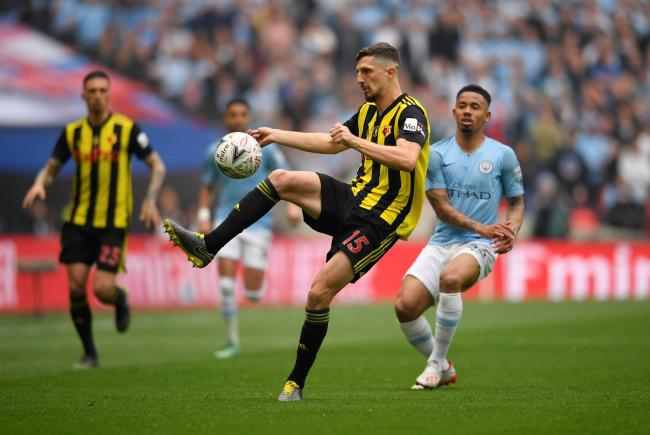 Craig Cathcart in the FA Cup final. Picture: Action Images