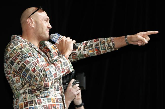 Tyson Fury, pictured, fights Tom Schwarz on Saturday night