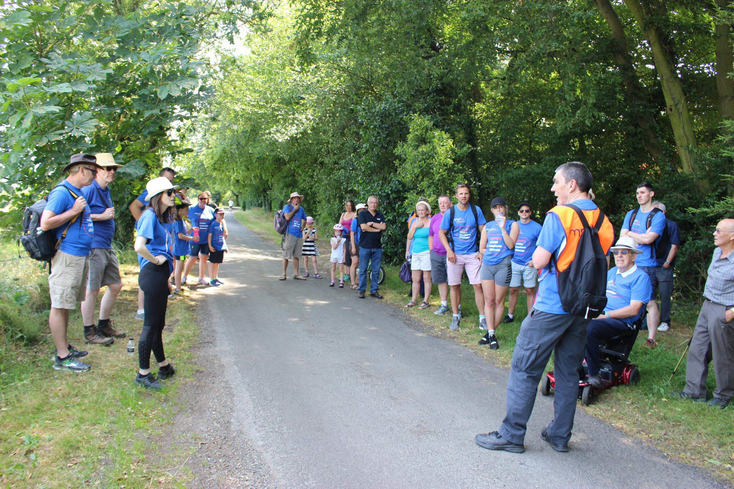 Charity walk of the Pednor Loop