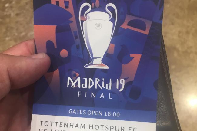 Craig Skillicorn's Champions League final ticket
